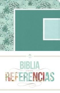 Biblia con Referencia Verde Mar