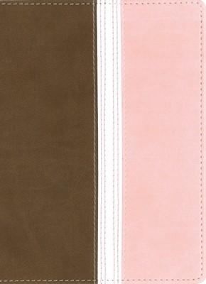 Biblia NVI Compacta Marrón/Rosa (Tapa Suave) [Biblia]