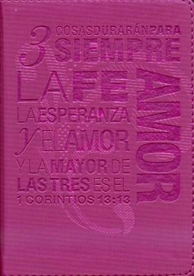 Biblia NTV Bolsillo Fucsia 1 Cor. 13:13 (Tapa Suave) [Biblia]