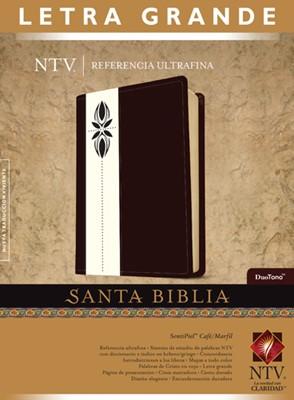 Biblia NTV Letra Grande Simil Piel Café Marfil (Tapa Suave) [Biblia]