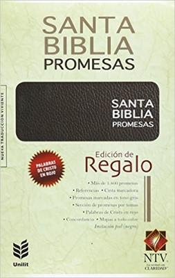 Biblia NTV Promesas Símil Piel Negro (Tapa Suave) [Biblia]