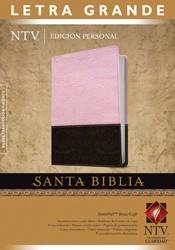 Biblia NTV Letra Grande Rosa/Café (Tapa Suave) [Biblia]