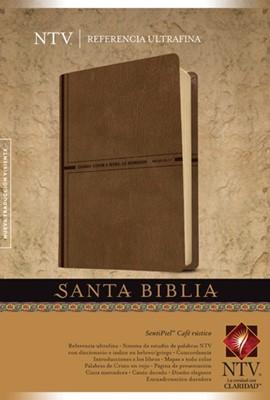 Biblia Ultrafina Senti Piel Café (Tapa Suave) [Biblia]