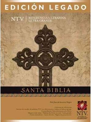 Biblia NTV Legado Letra Grande Piel Negro (Tapa Suave) [Biblia]