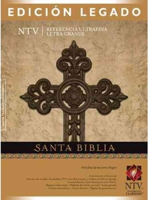 Biblia NTV Legado Piel Negro/Café (Tapa Suave) [Biblia]