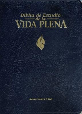 Biblia Estudio Vida Plena Piel con Índice (Tapa Suave) [Biblia]