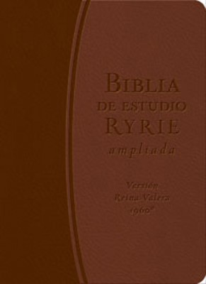 Biblia Estudio Ryrie Ampliada Piel Marron (Tapa Suave) [Biblia]