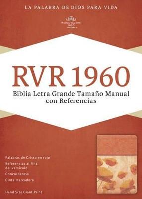 Biblia Letra Grande Imitación Piel Damasco/Coral (Tapa Suave) [Biblia]