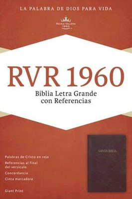 Biblia Letra Grande Rojizo con Índice (Tapa Suave) [Biblia]