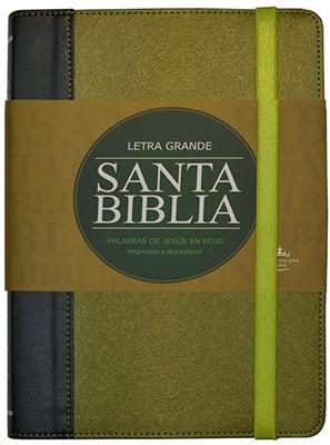 Biblia Letra Grande Verde con Elastico (Tapa Suave) [Biblia]