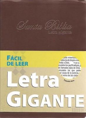 Biblia Letra Gigante Imitación Cuero Café (Tapa Suave) [Biblia]