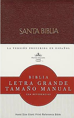 Biblia Letra Grande Imitación Cuero Rojo con Índice (Tapa Suave) [Biblia]
