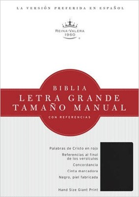 Biblia Letra Grande Imitación Cuero Negro con Índice