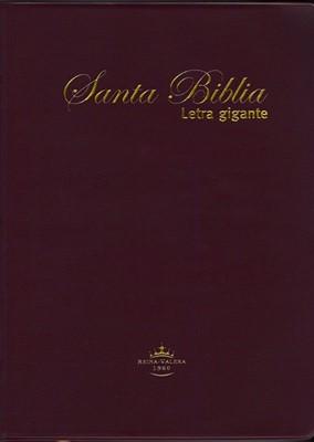 Biblia Letra Gigante Vinil Vino (Tapa Suave) [Biblia]