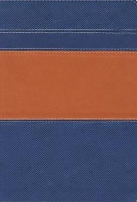 Biblia Serie 50 Duo Tono Naranja/Azul (Tapa Suave)