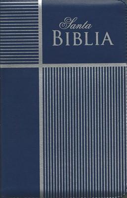 Biblia Letra Grande con Cierre Azul (Tapa Suave) [Biblia]