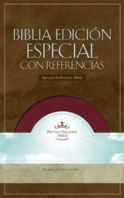 Biblia con Índice Piel Fabricada Borgoña (Tapa Suave) [Biblia]