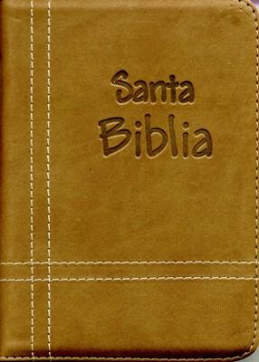 Biblia con Cierre Troquelada Café (Tapa Suave) [Biblia]
