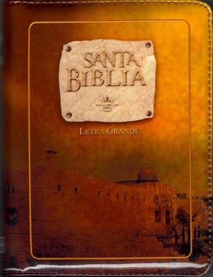 Biblia con Cierre Foto Ocre (Tapa Suave) [Biblia]