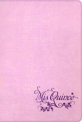 Biblia Mis Quince Rosa con Violeta (Tapa Suave) [Biblia]
