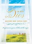 Hoy Dios Quiere Que Sepas (Tapa Rústica) [Libro Bolsillo]