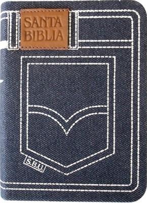 Biblia Jean Azul con cierre (Tapa Suave) [Biblia]