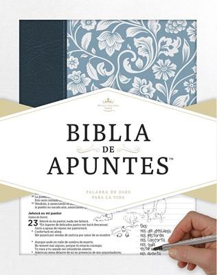 Biblia de Apuntes Piel Azul