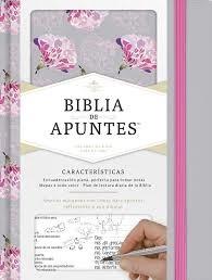 Biblia de Apuntes Tela Gris/Floreado (Tapa Dura) [Biblia]