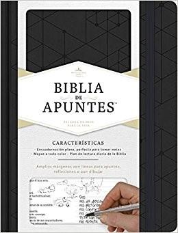 Biblia de Apuntes Simil Piel Negro (Tapa Dura) [Biblia]