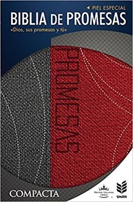 Biblia de Promesas Compacta Rojo/Gris (Tapa Suave) [Biblia]