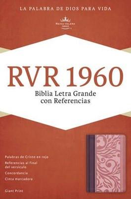 Biblia Letra Gigante Simil Piel Borravino/Rosado (Tapa Suave) [Biblia]