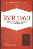 Biblia Letra Super Gigante Simil Piel Marrón (Tapa Suave) [Biblia]