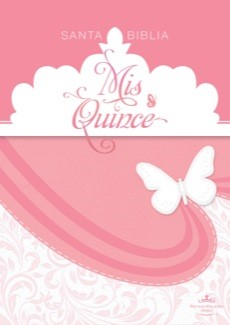 Biblia Mis Quince Rosa/Blanco Simil Piel (Tapa Suave) [Biblia]