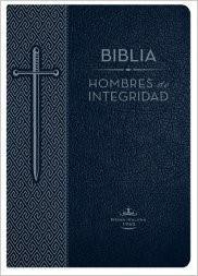 Biblia Hombres de Integridad Piel Azul (Tapa Suave) [Biblia]