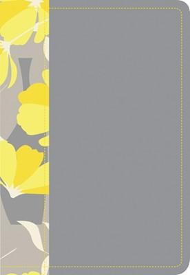 Biblia NTV Compacta Letra Grande Gris y Amarillo (Tapa Suave) [Biblia]