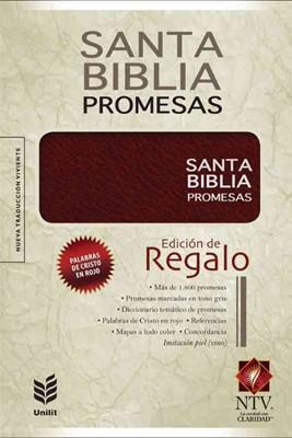 Biblia NTV Promesas Símil Piel Vino (Tapa Suave) [Biblia]
