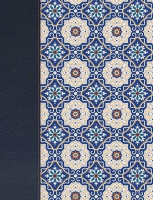 Biblia de Apuntes Simil Piel Crema Azul