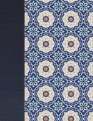 Biblia de Apuntes Simil Piel Crema Azul (Tapa Dura)