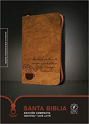 Biblia Compacta NTV con Cierre Café (Tapa Suave) [Biblia]