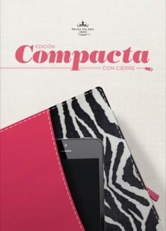 Biblia Compacta con Cierre Fucsia/Cebra (Tapa Suave) [Biblia]