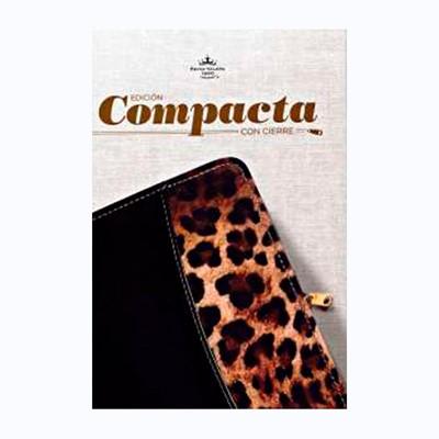Biblia Compacta con Cierre Negro/Leopardo (Tapa Suave) [Biblia]
