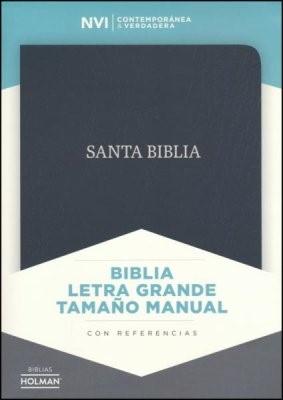 Biblia NVI Manual Letra Grande Negro (Tapa Suave) [Biblia]