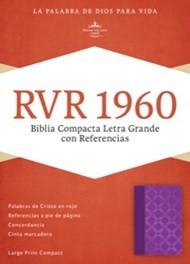 Biblia Letra Grande Compacta Violeta Plateado (Tapa Suave) [Biblia]