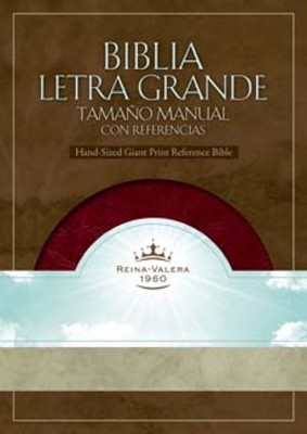 Biblia Letra Grande Imitación Piel Borgoña (Tapa Suave)