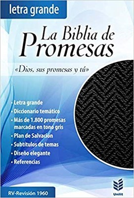 Biblia de Promesas con cierre Negro (Tapa Suave)
