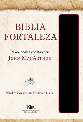 Biblia Devocional Fortaleza Negro (Tapa Suave)