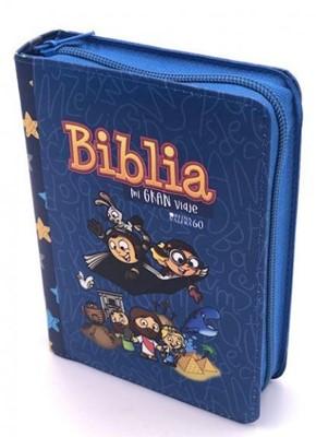 Biblia Mi Gran Viaje Cierre Azul (Tapa Suave)