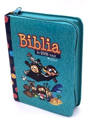 Biblia Mi Gran Viaje Cierre Turquesa (Tapa Suave)