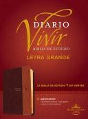Biblia Diario Vivir RVR Letra Grande Cafe (Tapa Suave)