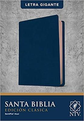 Biblia NTV Letra Gigante Azul (Tapa Suave)